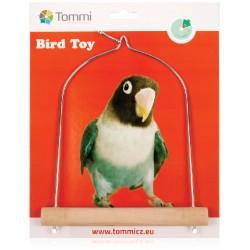 Houpačka střední pro exotické ptactvo dřevo + kov