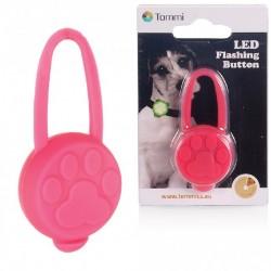 LED přívěsek na obojek silikonový  růžový