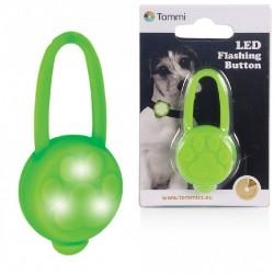 LED přívěsek na obojek silikonový zelený