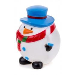 Vinylový sněhulák 8,5 cm, vinylová (gumová) hračka