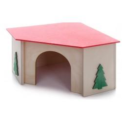 Rohový domek morče, dřevěný domek pro hlodavce